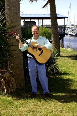 Will Roberson entertains at Emerald Princess dock.jpg